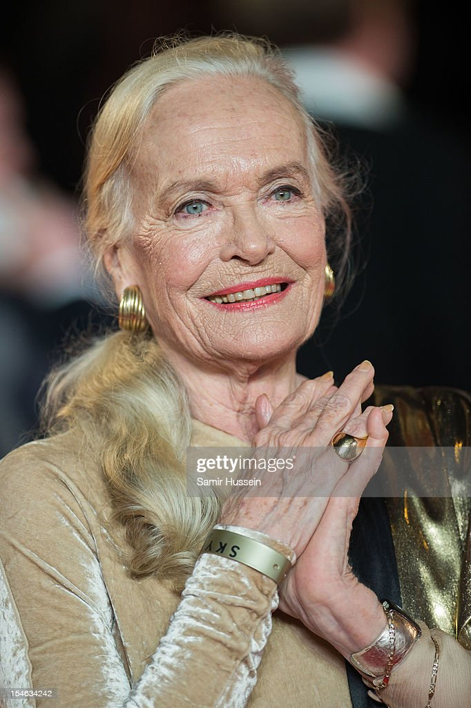 Shirley Eaton attends the Royal World Premiere of 'Skyfall' at the Royal Albert Hall on October 23, 2012 in London, England.