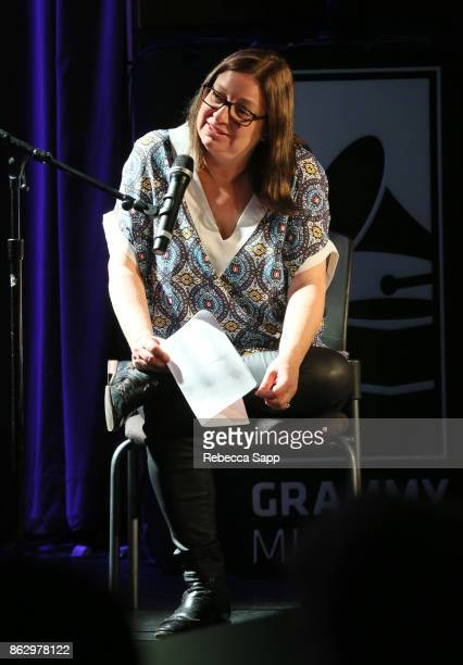 Shirley Halperin moderates at Chart Toppers Songwriters/Producers InTheRound Featuring Busbee Dave Bassett Warren 'Oak' Felder And Teddy Geiger at...