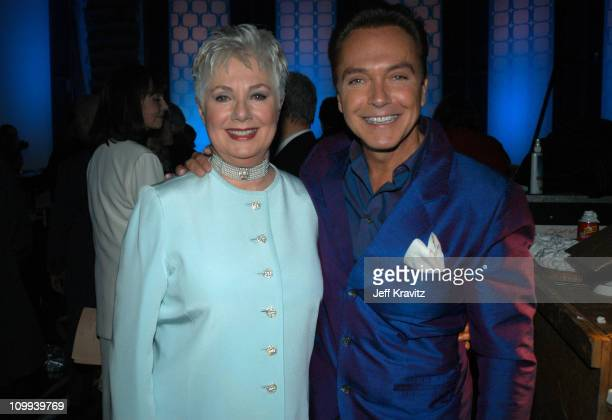 Shirley Jones and David Cassidy during The TV Land Awards Backstage at Hollywood Palladium in Hollywood CA United States