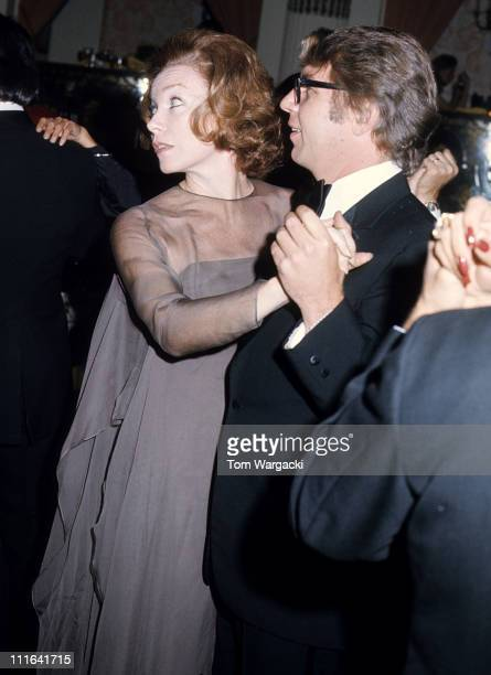 Shirley MacLaine and Pete Hamill at The Plaza Hotel
