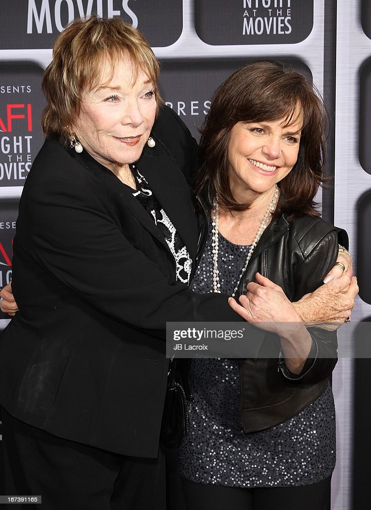 <a gi-track='captionPersonalityLinkClicked' href=/galleries/search?phrase=Shirley+MacLaine&family=editorial&specificpeople=204788 ng-click='$event.stopPropagation()'>Shirley MacLaine</a> and <a gi-track='captionPersonalityLinkClicked' href=/galleries/search?phrase=Sally+Field&family=editorial&specificpeople=206350 ng-click='$event.stopPropagation()'>Sally Field</a> attend the AFI Night At The Movies presented by Target held at ArcLight Hollywood on April 24, 2013 in Hollywood, California.