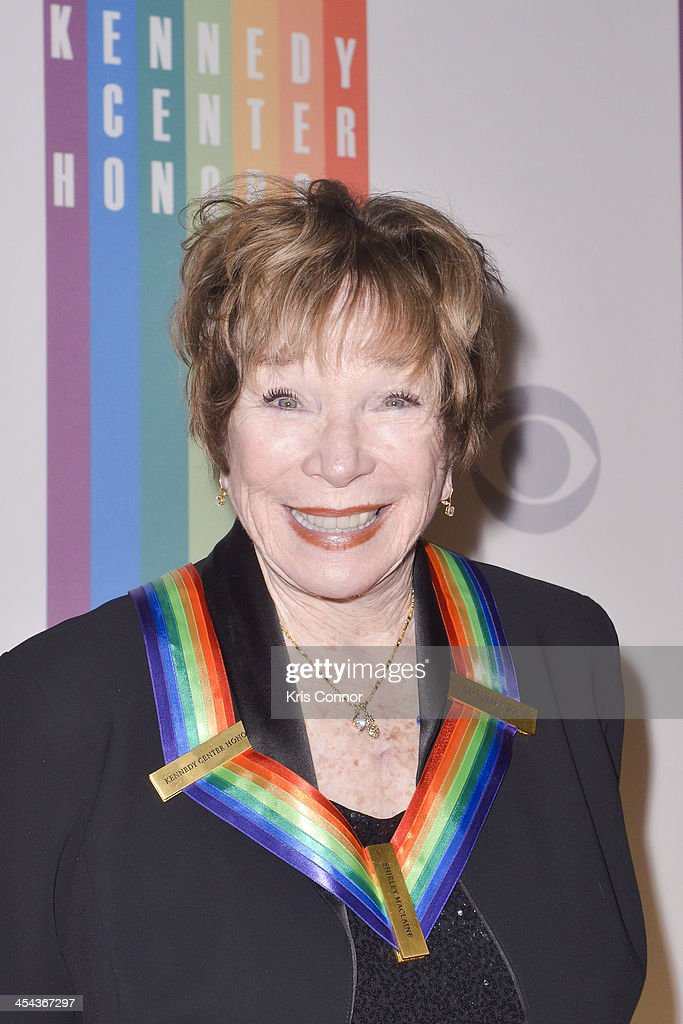 <a gi-track='captionPersonalityLinkClicked' href=/galleries/search?phrase=Shirley+MacLaine&family=editorial&specificpeople=204788 ng-click='$event.stopPropagation()'>Shirley MacLaine</a> poses on the red carpet during the The 36th Kennedy Center Honors gala at the Kennedy Center on December 8, 2013 in Washington, DC.