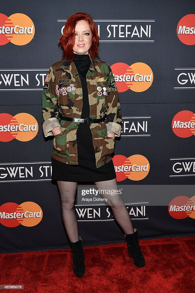 Shirley Manson attends the MasterCard Priceless Surprises presents Gwen Stefani at Orpheum Theatre on February 7, 2015 in Los Angeles, California.