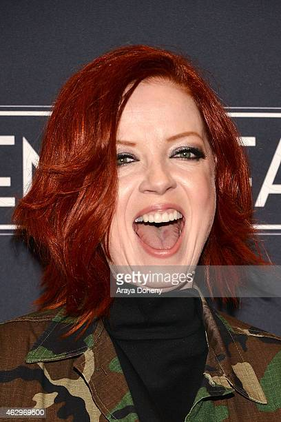 Shirley Manson attends the MasterCard Priceless Surprises presents Gwen Stefani at Orpheum Theatre on February 7 2015 in Los Angeles California