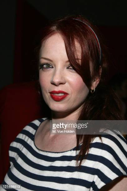 Shirley Manson during Marc Jacobs Celebrates Debbie Harry's Rock and Roll Hall of Fame Induction at Stephen Weiss Studio in New York New York United...