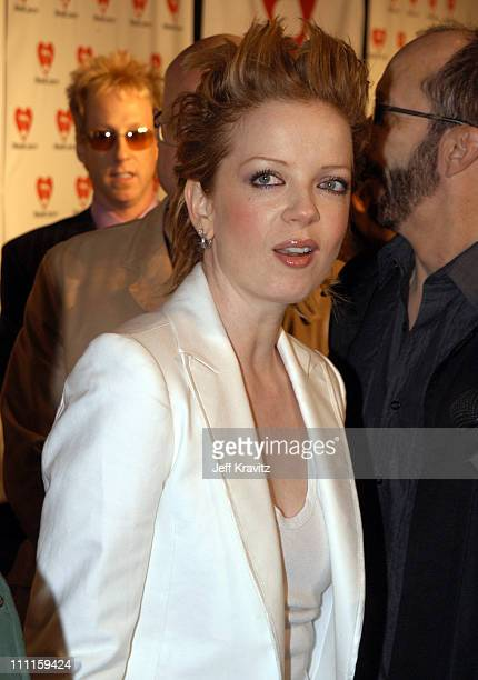 Shirley Manson during The 45th GRAMMY Awards MusiCares 2003 Person of the Year Bono Arrivals by Jeff Kravitz at Marriott Marquis in New York City New...
