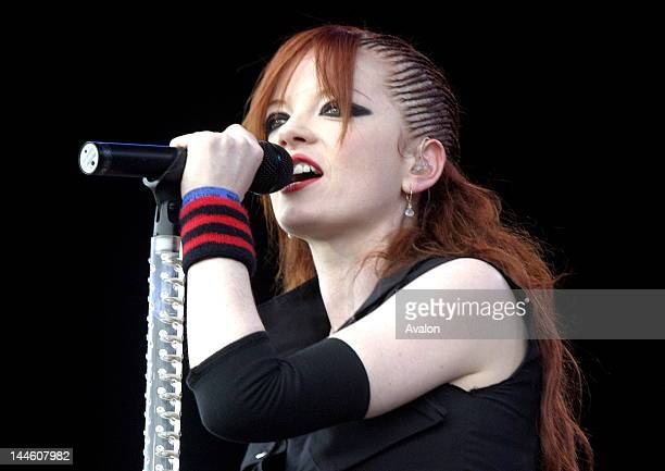 Shirley Manson from Garbage performing live at the main stage at Download festival Downington Park on June 112005 Job 12594