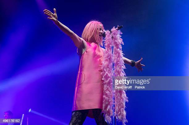 Shirley Manson from Garbage performs at Le Zenith on November 7 2015 in Paris France