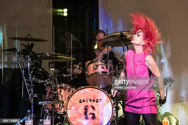 Shirley Manson of Garbage celebrates their 20 year anniversary debut album 'Queer' as they perform at Kings Theatre on October 24 2015 in New York...