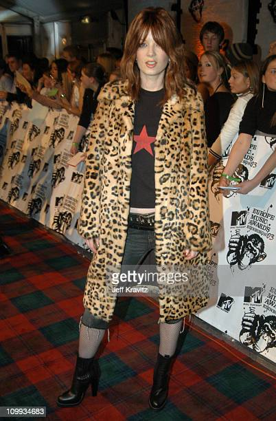 Shirley Manson of Garbage during MTV Europe Music Awards 2003 Arrivals at Ocean Terminal Arena in Edinburgh Scotland