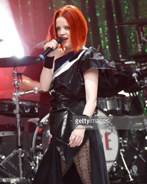Shirley Manson of Garbage performs at Chastain Park Amphitheater on August 6 2017 in Atlanta Georgia