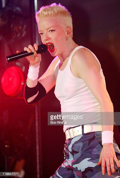 Shirley Manson of Garbage performs at Microsoft's E3 Xbox party at the Park Plaza Hotel in Los Angeles