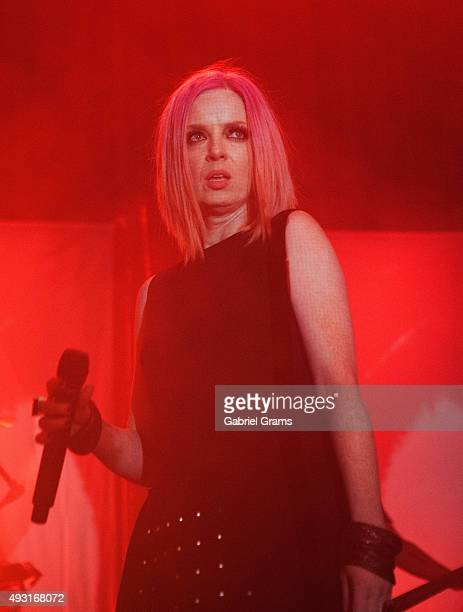 Shirley Manson of Garbage performs at the Riviera Theatre on October 17 2015 in Chicago Illinois