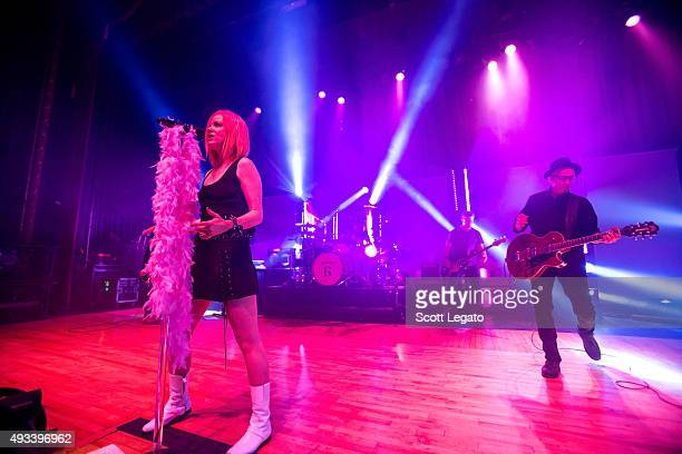Shirley Manson of Garbage performs at The Royal Oak Music Theater on October 19 2015 in Royal Oak Michigan