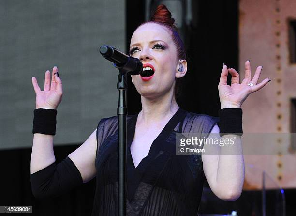 Shirley Manson of Garbage performs during the 2012 Live 105's BFD at Shoreline Amphitheatre on June 2 2012 in Mountain View California