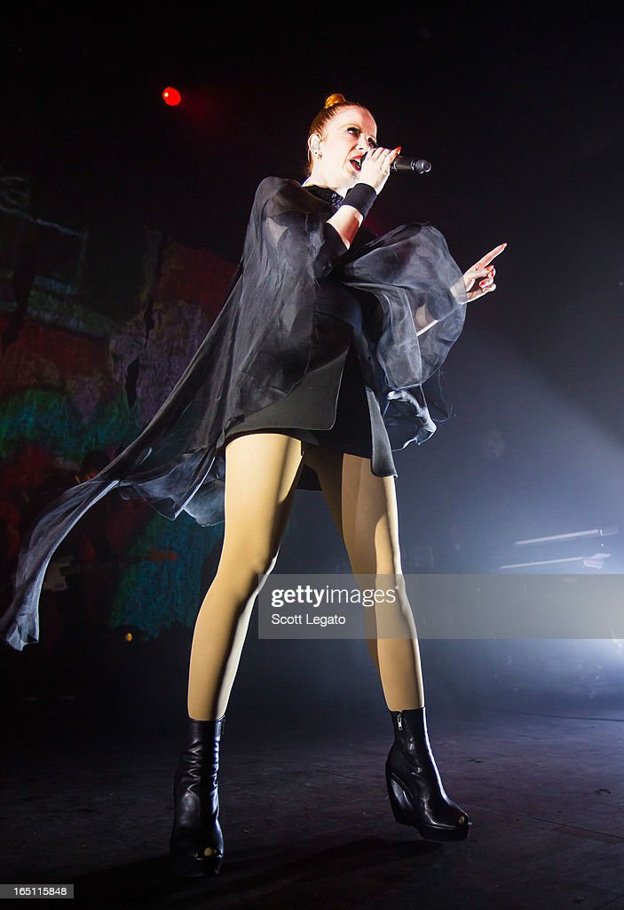 Shirley Manson of Garbage performs in concert at the Majestic Theater on March 30, 2013 in Detroit, Michigan.