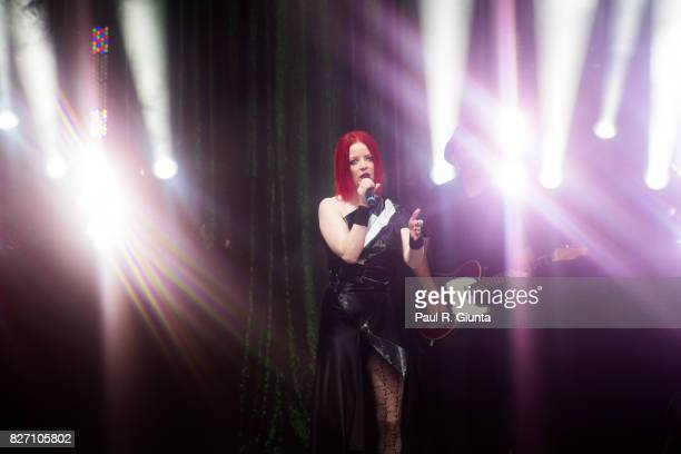 Shirley Manson of Garbage performs on stage at Chastain Park Amphitheater on August 6 2017 in Atlanta Georgia
