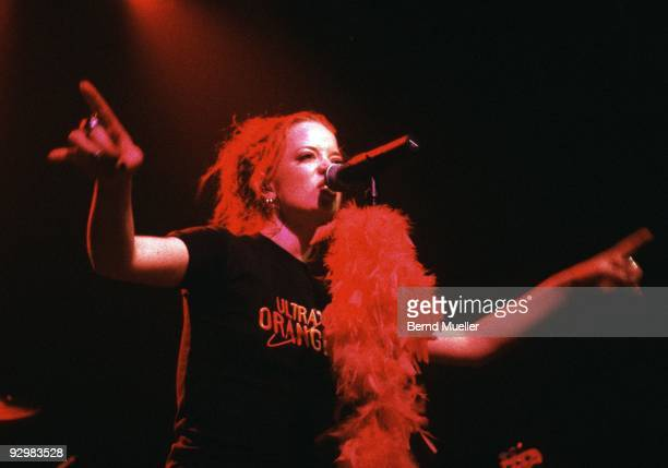 Shirley Manson of Garbage performs on stage at Wappensaal in 1996 in Munich Germany