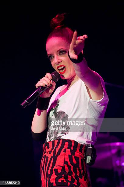 Shirley Manson of Garbage performs on stage during BBK Live at Kobetamendi on July 14 2012 in Bilbao Spain
