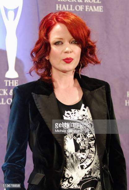 Shirley Manson of Garbage presenter during 21st Annual Rock and Roll Hall of Fame Induction Ceremony Press Room at The WaldorfAstoria in New York...