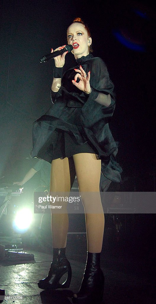 Shirley Manson performs with Garbage in concert at Majestic Theater on March 30, 2013 in Detroit, Michigan.