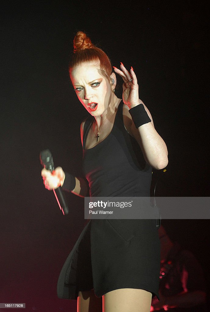<a gi-track='captionPersonalityLinkClicked' href=/galleries/search?phrase=Shirley+Manson&family=editorial&specificpeople=202058 ng-click='$event.stopPropagation()'>Shirley Manson</a> performs with Garbage in concert at Majestic Theater on March 30, 2013 in Detroit, Michigan.