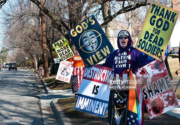 Shirley PhelpsRoper and her daughter Megan of the Westboro Baptist Church a Kansas church known for its vehement antigay positions and for protesting...
