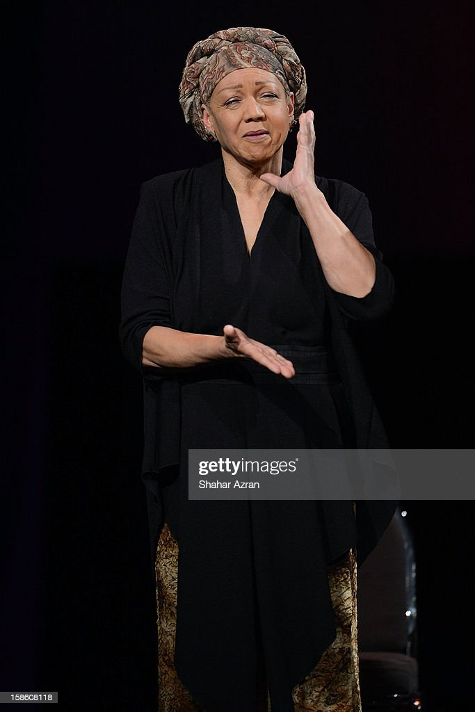 Shirley Saxton performs during Sweet Honey In The Rock: Celebrating The Holydays at The Apollo Theater on December 20, 2012 in New York City.