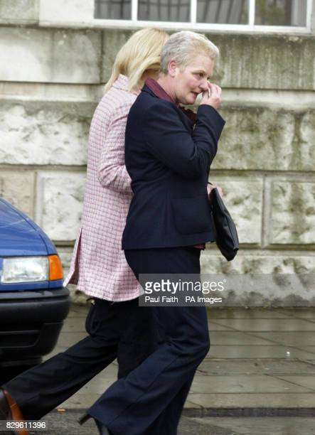 Shirley Shepherd wife of sex killer Stephen Shepherd and her daughter Lisa leave Mrs Shepherd collapsed in court after her husband failed to overturn...