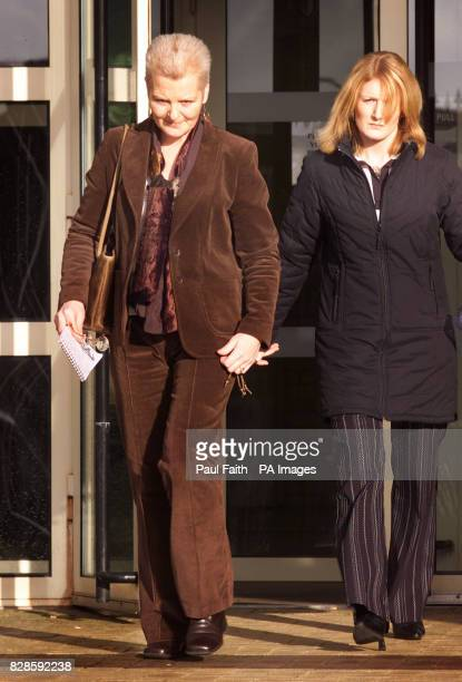 Shirley Shepherd with her daughter leave Antrim Court following her husband Steven Shepherd being jailed for life for a brutal sex attack more than...