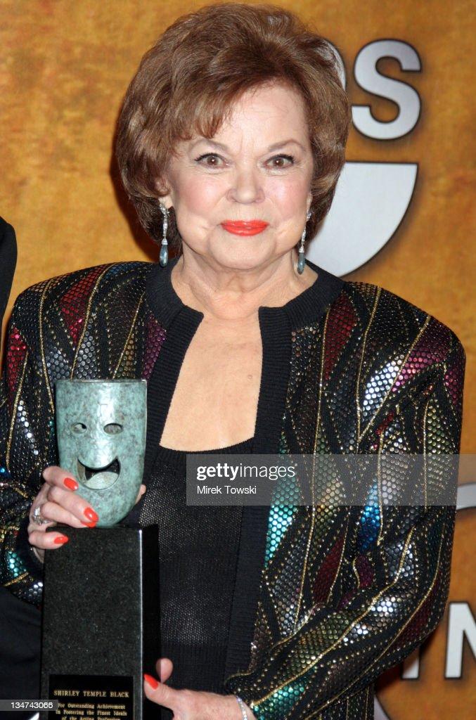 Shirley Temple Black, recipient of the Screen Actors Guild Life ...