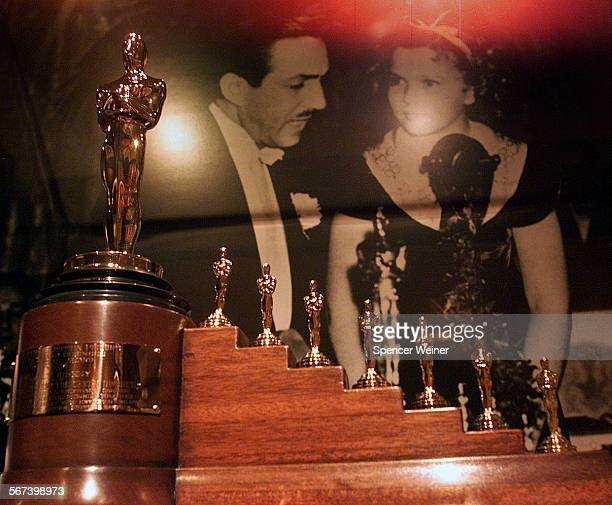 Shirley temple was the presenter of 1939 Academy awards for a special Oscar recognizing Walt Disney's 'Snow White' on display at exhibit Sunday at...