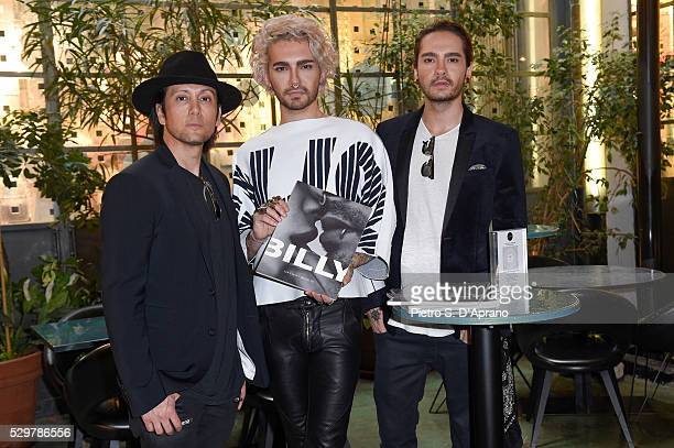 Shiro Gutzie BILLY Tom Kaulitz at the photo art exhibition and book launch of BILLY at 10 Corso Como on May 9 2016 in Milan Italy
