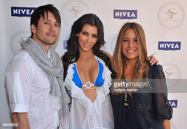 MALIBU CA MAY 24 Shiro Gutzie Kim Kardashian and Shay Todd attend NIVEA/Shay Todd Summer Bikini Bash on May 24 2009 in Malibu California