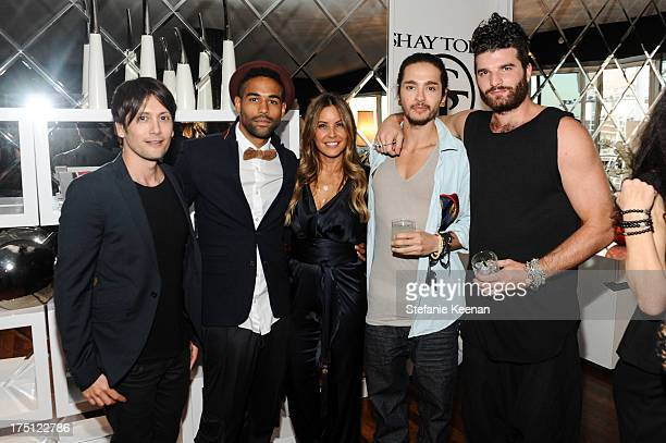 Shiro Gutzie Leo Gallo Shay Todd Tom Kaulitz and Alex Claster attend SHAY TODD 2014 Swimwear And Resortwear Collection Preview at The Residences At W...