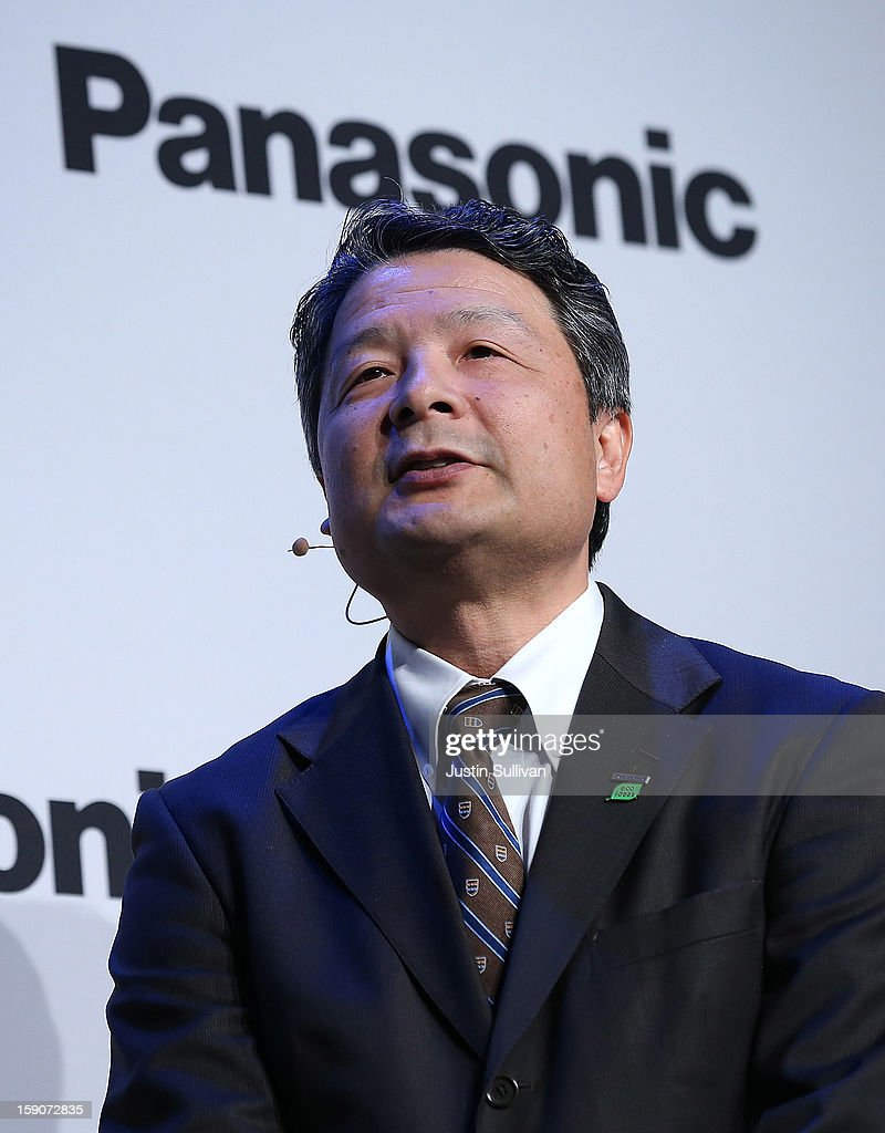 Shiro Kitajima, President of Panasonic Consumer Marketing Company of North America speaks at a Panasonic press conference during the 2013 International CES at the Mandalay Bay Convention Center on January 7, 2013 in Las Vegas, Nevada. CES, the world's largest annual consumer technology trade show, runs from January 8-11 and is expected to feature 3,100 exhibitors showing off their latest products and services to about 150,000 attendees.