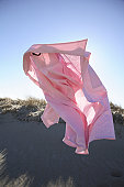 Shirt blowing in wind, close-up