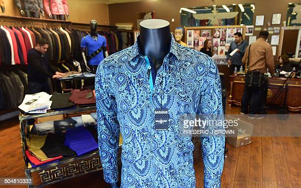 A shirt known as 'Crazy Paisley' a replica of the shirt worn by Mexican druglord Joaquin 'El Chapo' Guzman during his interview with Sean Penn is...