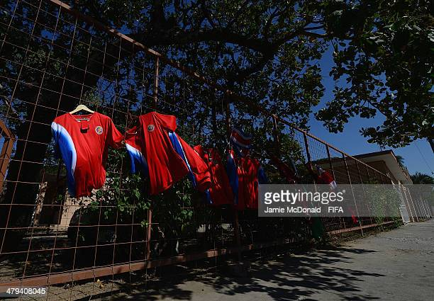 Shirts and flags for sale prior to the FIFA U17 Women's World Cup Grroup B match between Ghana and Germany at Edgardo Baltodano Briceno on March 18...