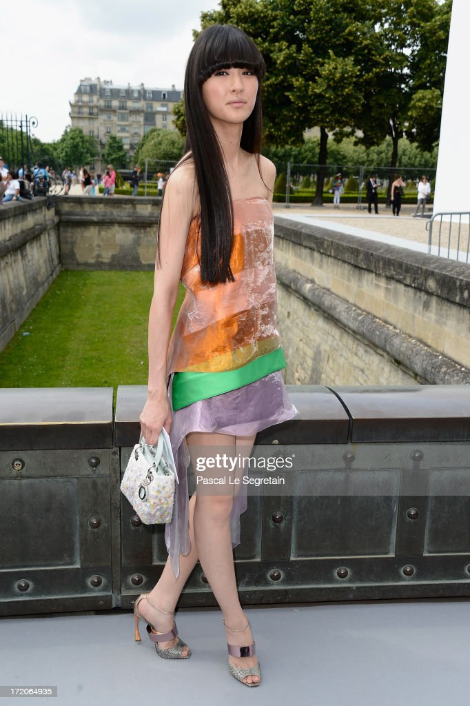 Shishido Kavka attends the Christian Dior show as part of Paris Fashion Week Haute-Couture Fall/Winter 2013-2014 at Hotel Des Invalides on July 1, 2013 in Paris, France.