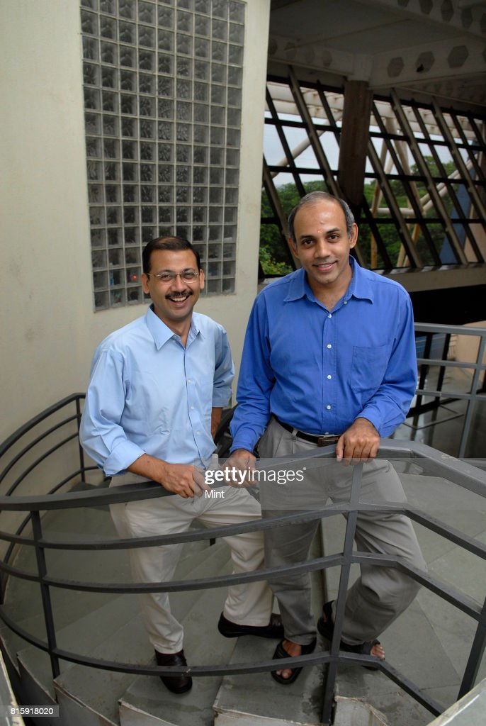 Shishir Jha and Sridhar Iyer, professors at IIT, photographed at IIT Bombay.