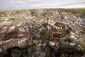 Shishmaref rubbish dump Alaska The Inuit community of Shishmaref live on a tiny island in the Chukchi sea Any rubbish has to remain on the island and...
