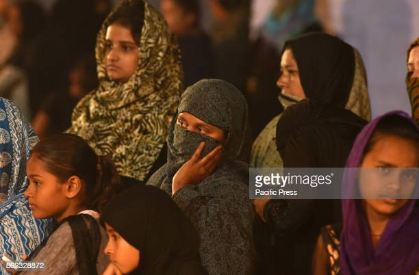 Shite Muslims take part in a mourning procession during the month of MuharramulHaram which is the first month of the Islamic calendar and second...