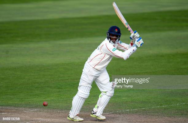 Shiv Chanderpaul bats of Lancashire during Day Three of the Specsavers County Championship Division One match between Somerset and Lancashire at The...