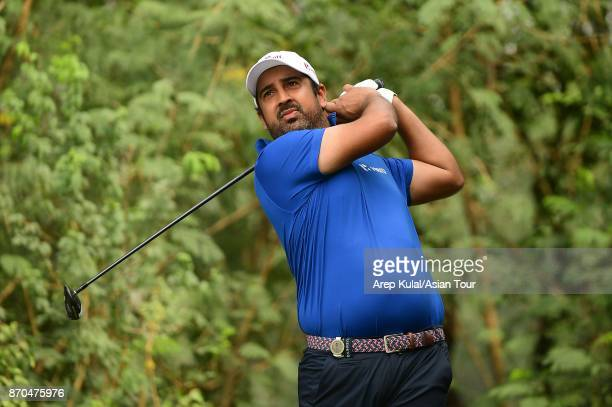 Shiv Kapur of India pictured during round four of the Panasonic Open India at Delhi Golf Club on November 5 2017 in New Delhi India