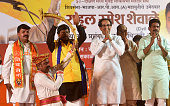 IND: Shiv Sena Party Chief Uddhav Thackeray Addresses An Election Campaign Rally At Dharavi