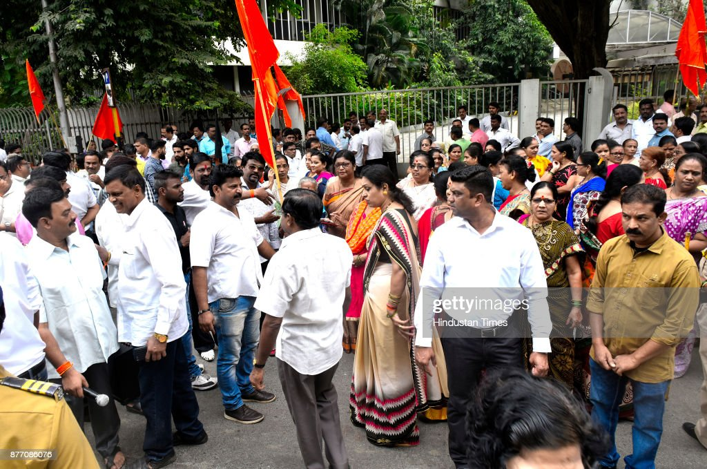 Shiv Sena Protest Against Doordarshan Center Director Thomas George