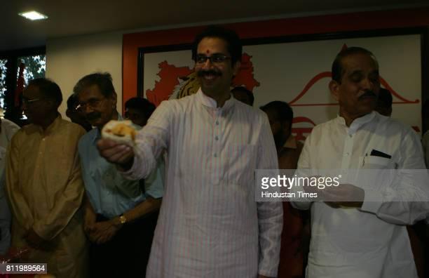 Shiv Sena president Uddhav Thackeray on Thursday launched its own brand of vada pav called Shiv Vada at Shiv Sena Bhavan