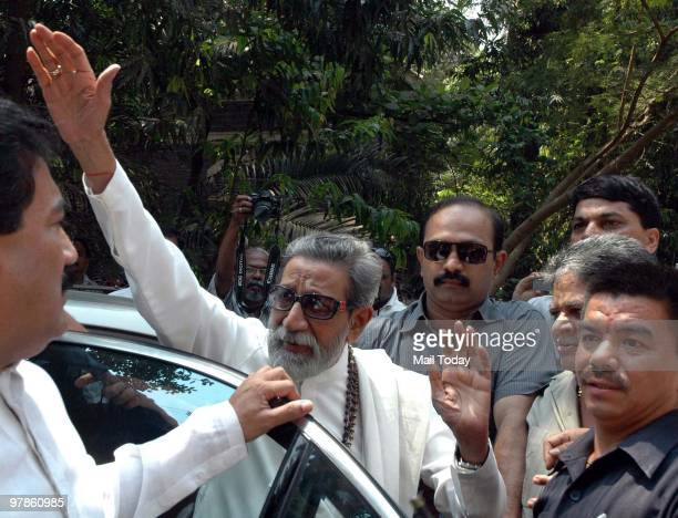 Shiv Sena supremo Balasaheb Thackeray arrives at JJ Hospital for an eye checkup in Mumbai
