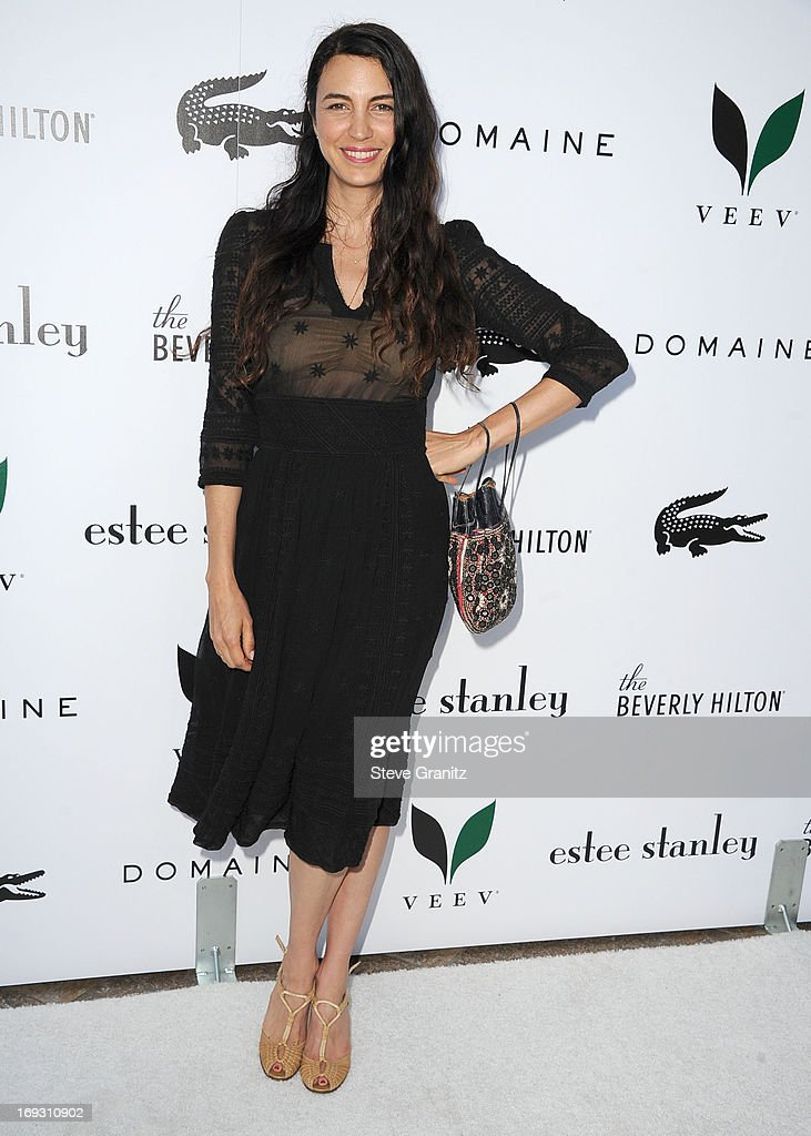 Shiva Rose arrives at the The Beverly Hilton Unveils Redesigned Aqua Star Pool By Estee Stanley at The Beverly Hilton Hotel on May 22, 2013 in Beverly Hills, California.